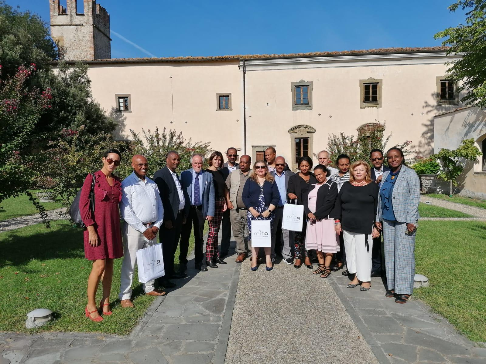 La delegazione in visita all'Its Mita
